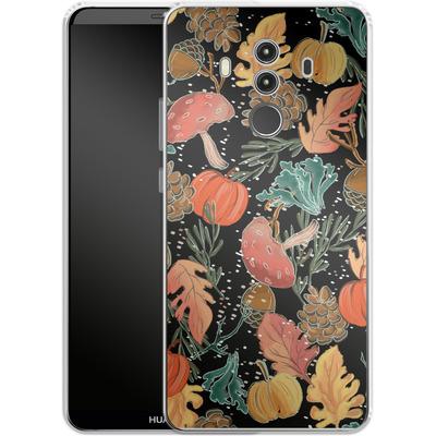 Huawei Mate 10 Pro Silikon Handyhuelle - Fall Woodland Black von Mukta Lata Barua