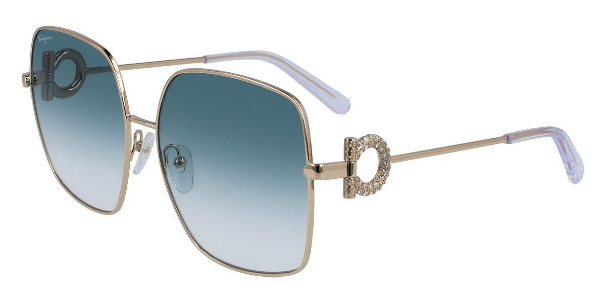 Salvatore Ferragamo SF243SR 741 Women's Sunglasses Gold Size 59