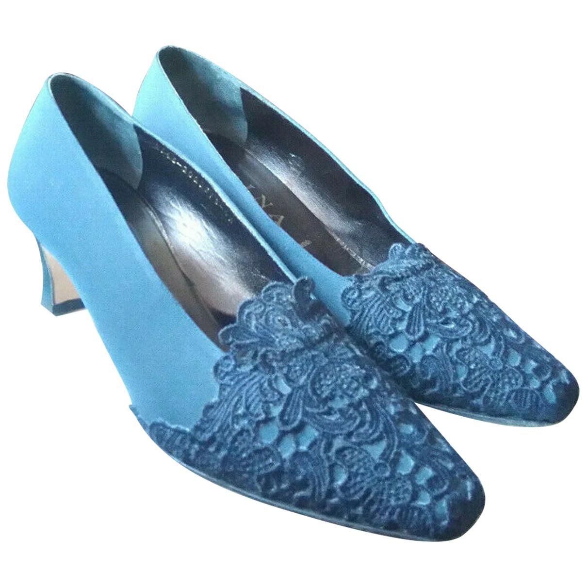 Gina - Escarpins   pour femme en toile - bleu