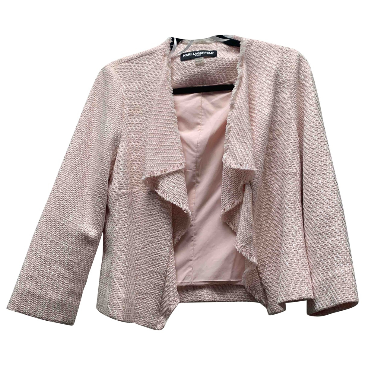 Karl Lagerfeld \N Pink Cotton jacket for Women XS International