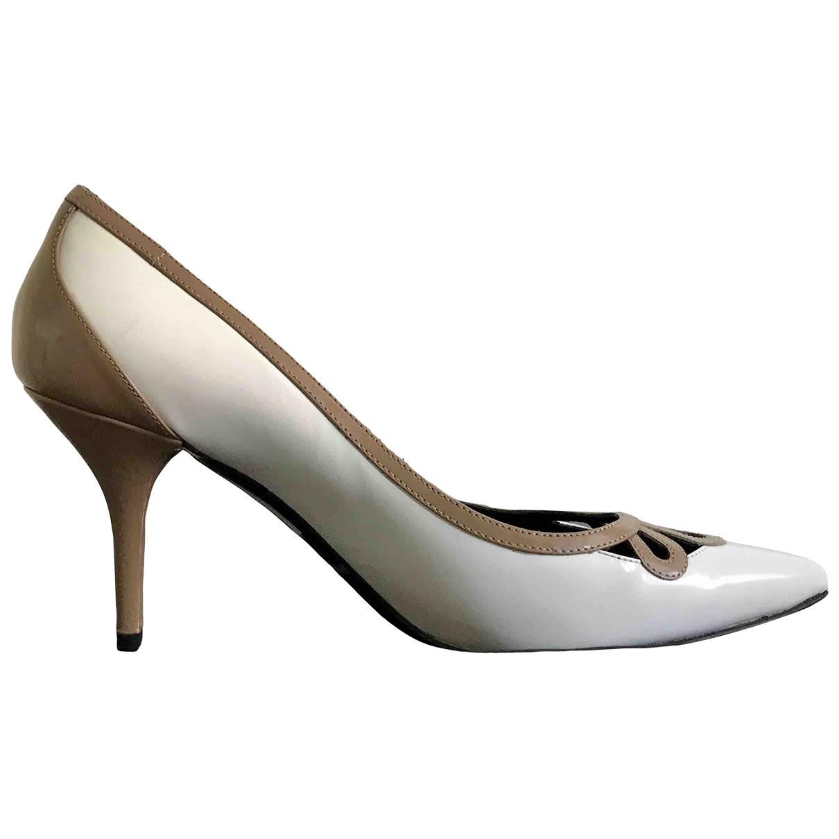 Dolce & Gabbana - Escarpins   pour femme en cuir - blanc
