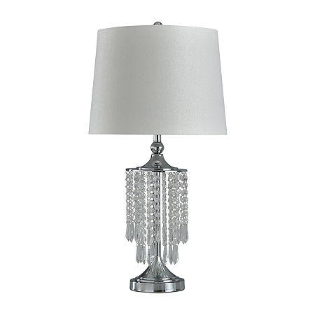 Stylecraft 16 W Chrome Steel Table Lamp, One Size , Silver