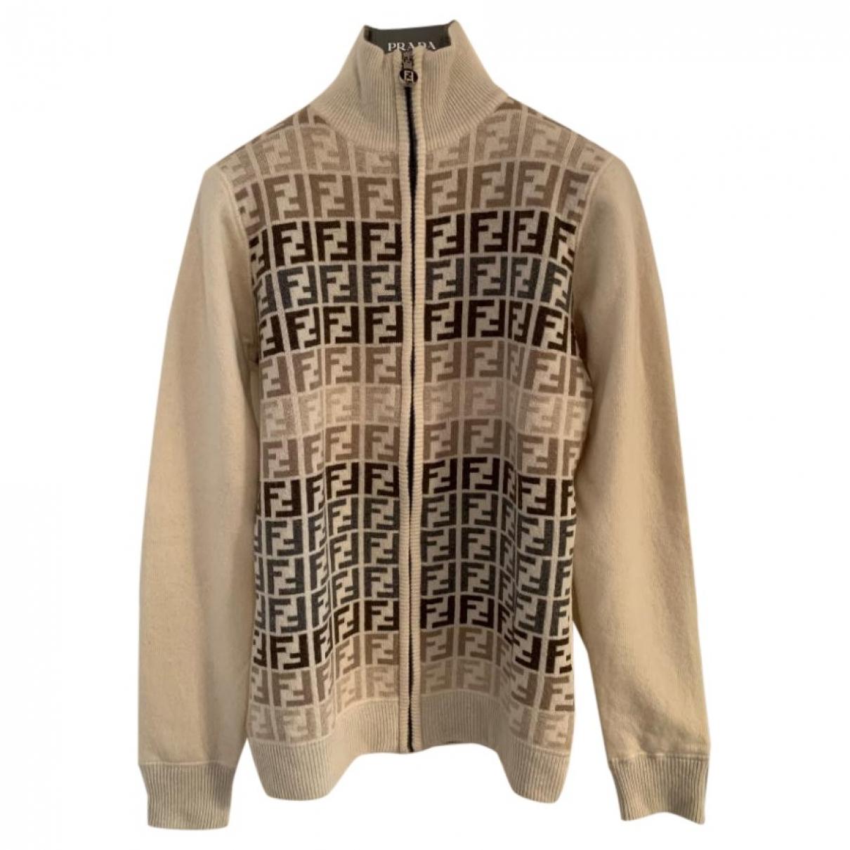 Fendi \N Pullover in  Beige Wolle