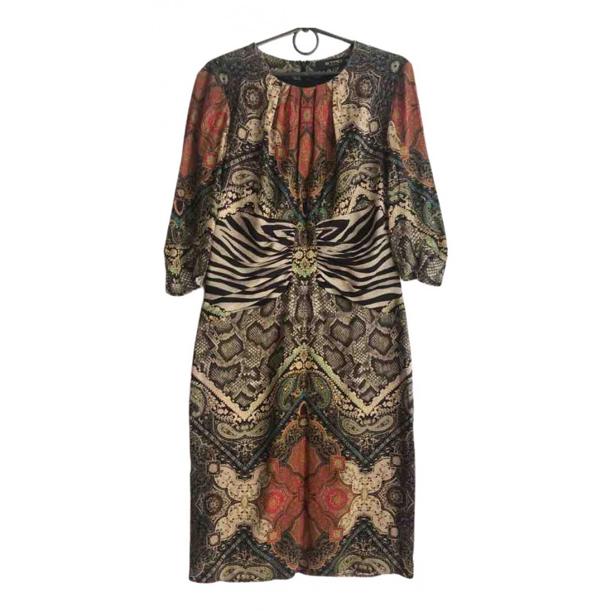 Etro \N Multicolour Silk dress for Women 46 IT