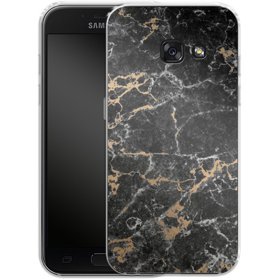 Samsung Galaxy A3 (2017) Silikon Handyhuelle - Marble and Gold von #basic