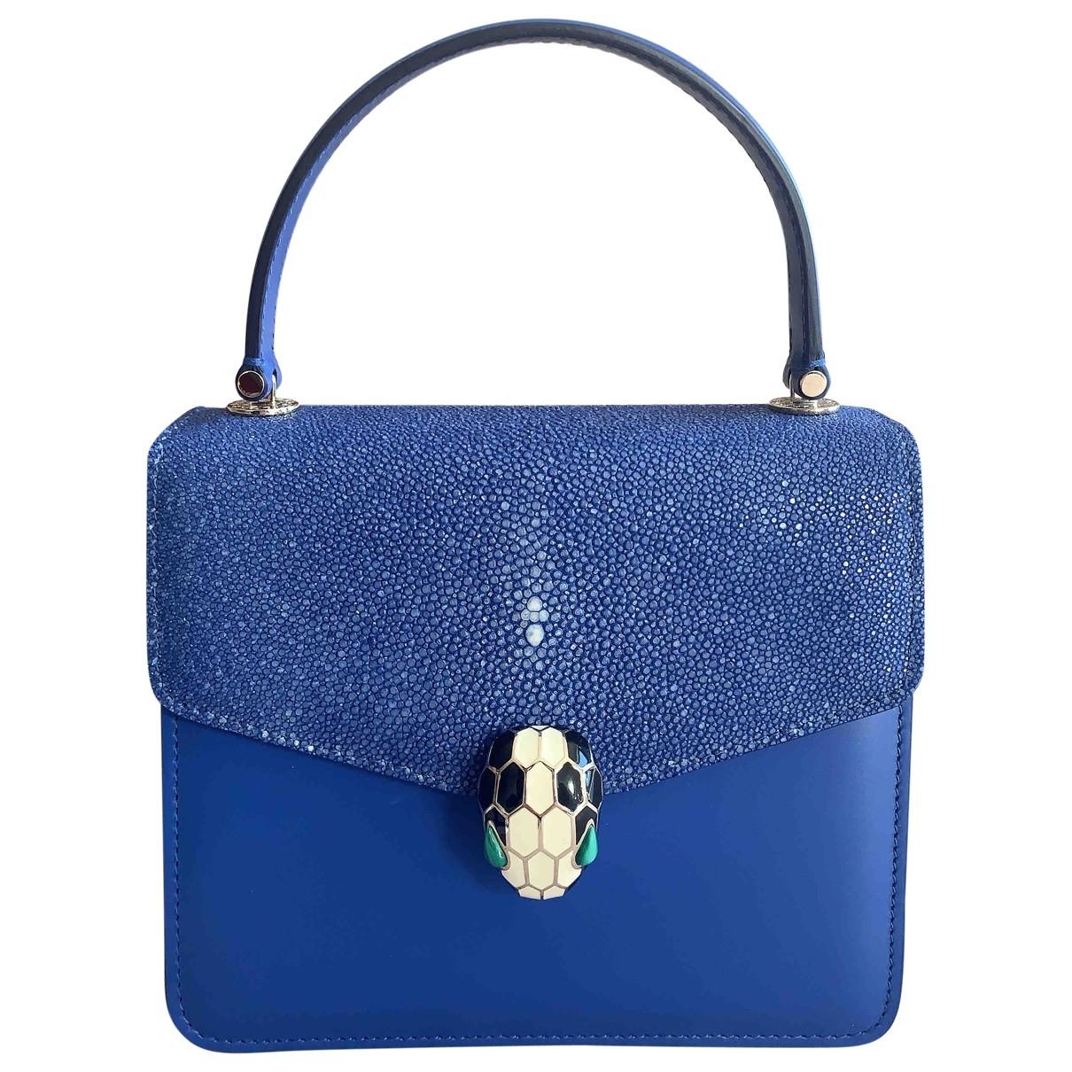 Bvlgari Serpenti Blue Stingray handbag for Women \N