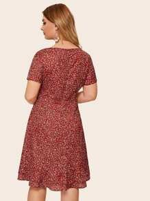 Plus Ditsy Floral Dress