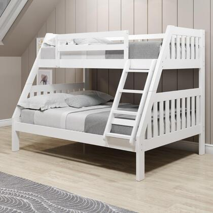 1018-3TFW Twin/Full Mission Bunk Bed in