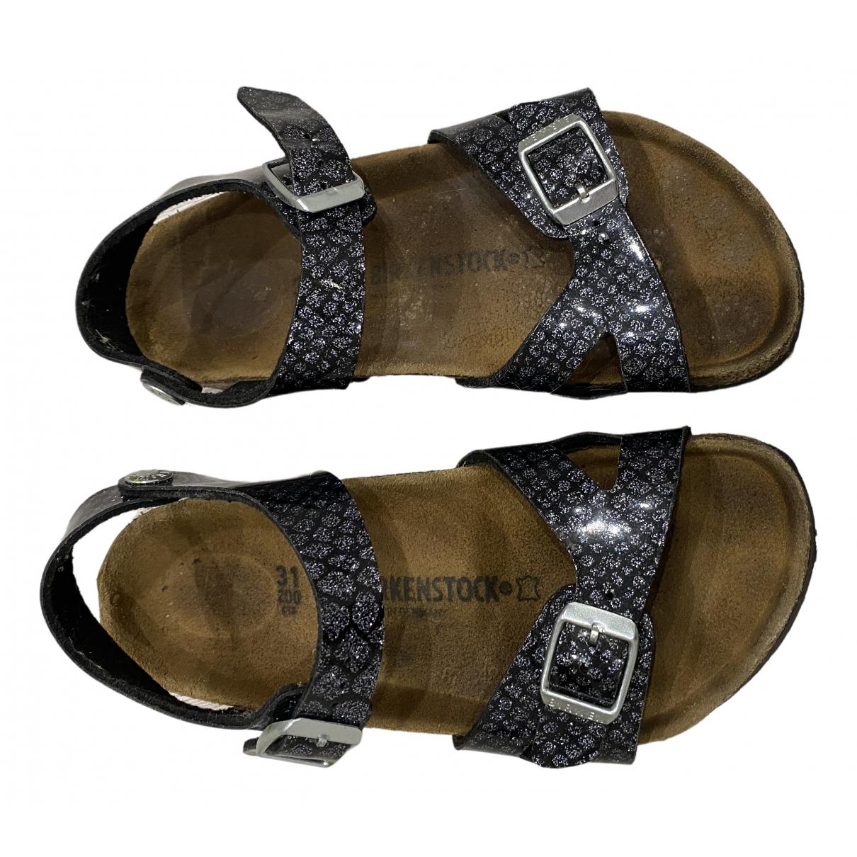Birkenstock - Sandales   pour enfant en cuir - noir