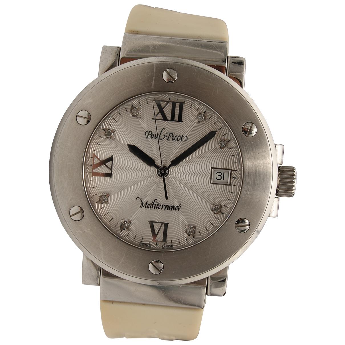 Paul Picot \N Uhr in  Silber Stahl