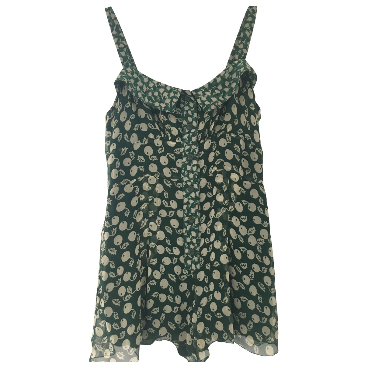 Anna Sui \N Green Silk jumpsuit for Women 8 US