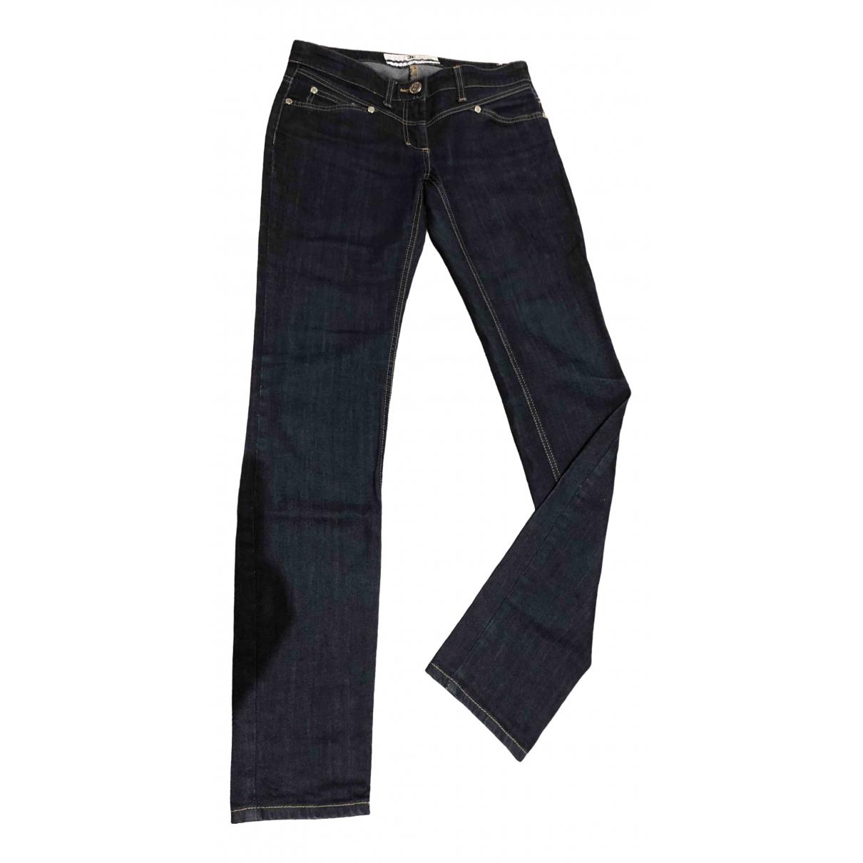 Elisabetta Franchi \N Blue Cotton - elasthane Jeans for Women 27 US