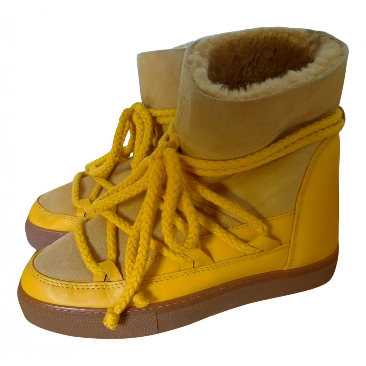 Inuikii - Boots   pour femme en suede - beige