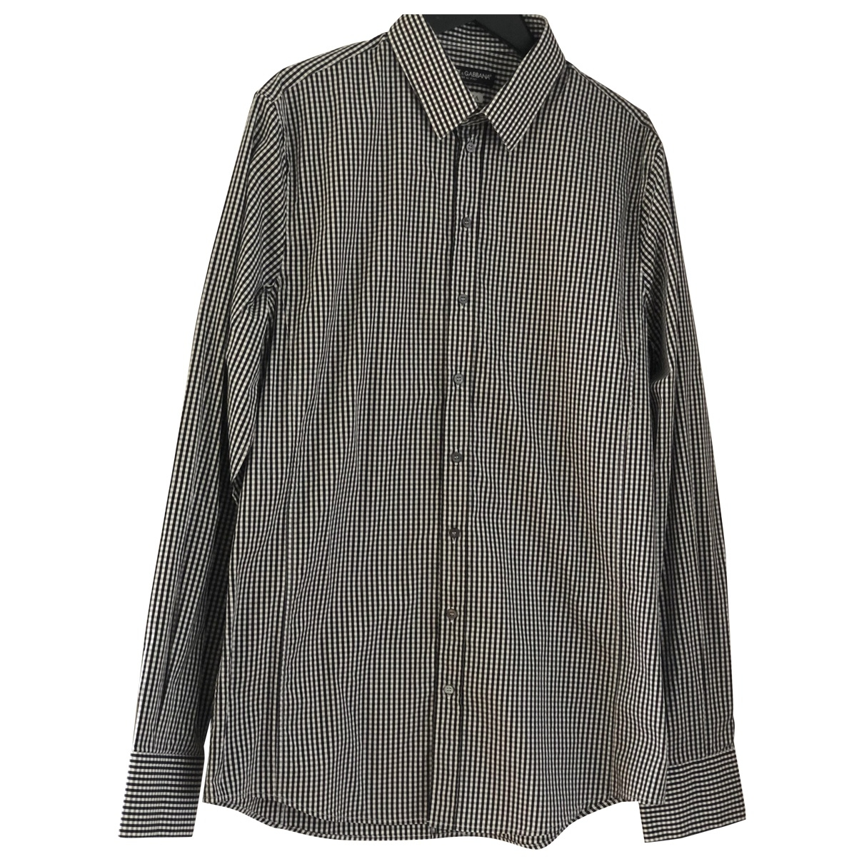 Dolce & Gabbana \N Black Cotton Shirts for Men 41 EU (tour de cou / collar)