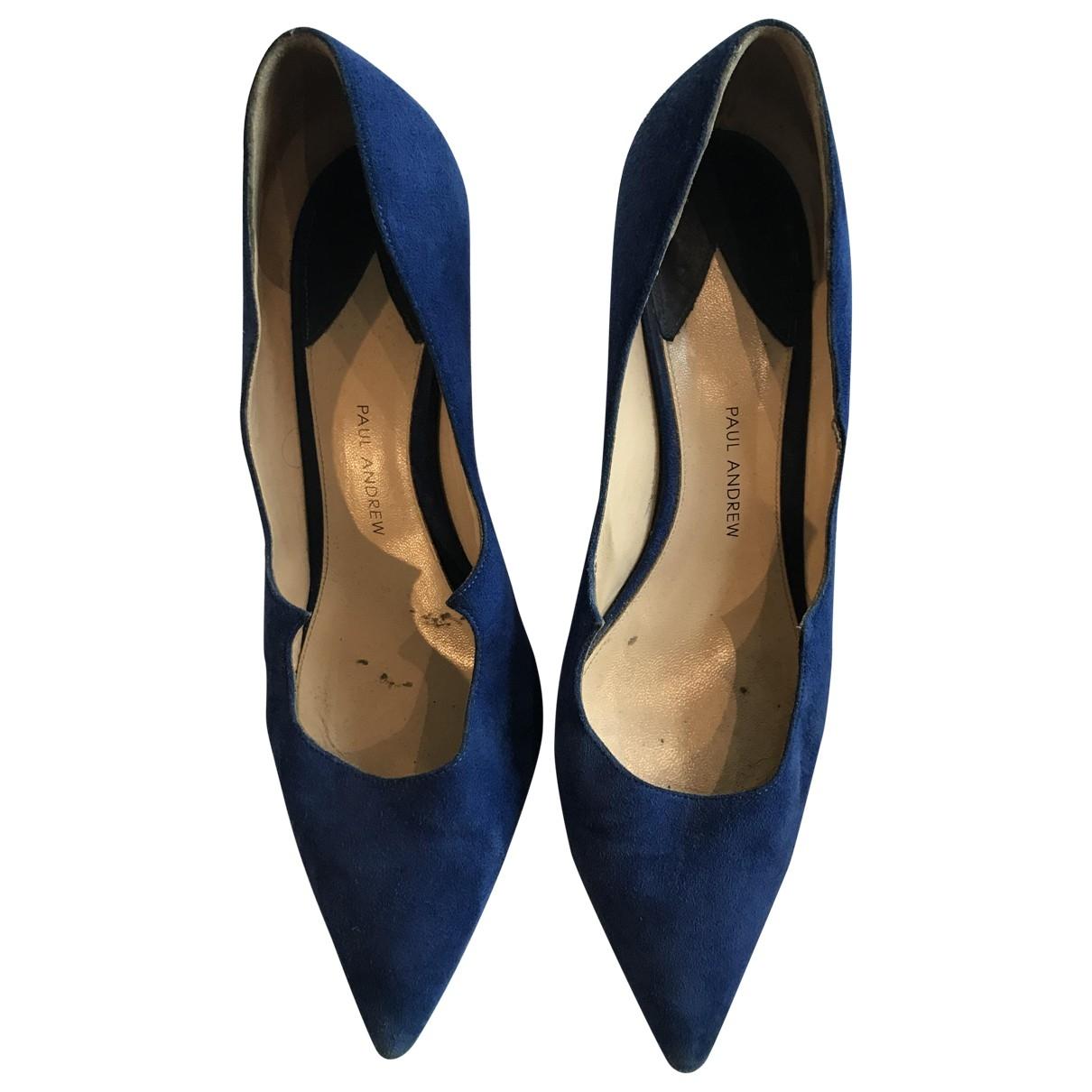 Paul Andrew - Escarpins   pour femme en suede - bleu