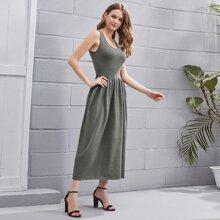Pullover Kleid mit Rueschenbesatz