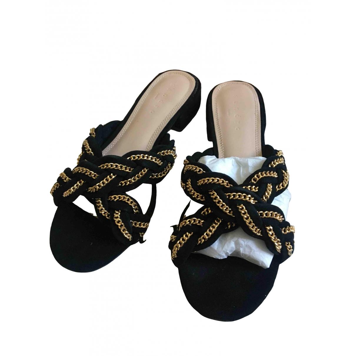 Sandro N Black Suede Sandals for Women 36 EU
