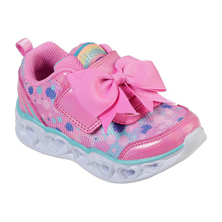 Skechers Heart Lights Toddler Girls Pull-on Sneakers, 7 Medium, Pink