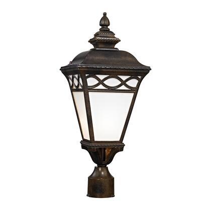 8561Ep/70 Mendham 1 Light Outdoor Post Lantern In Hazelnut