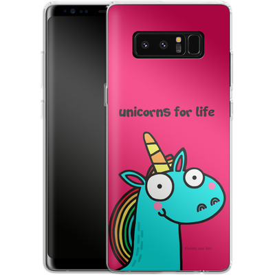 Samsung Galaxy Note 8 Silikon Handyhuelle - Unicorns for Life von Flossy and Jim