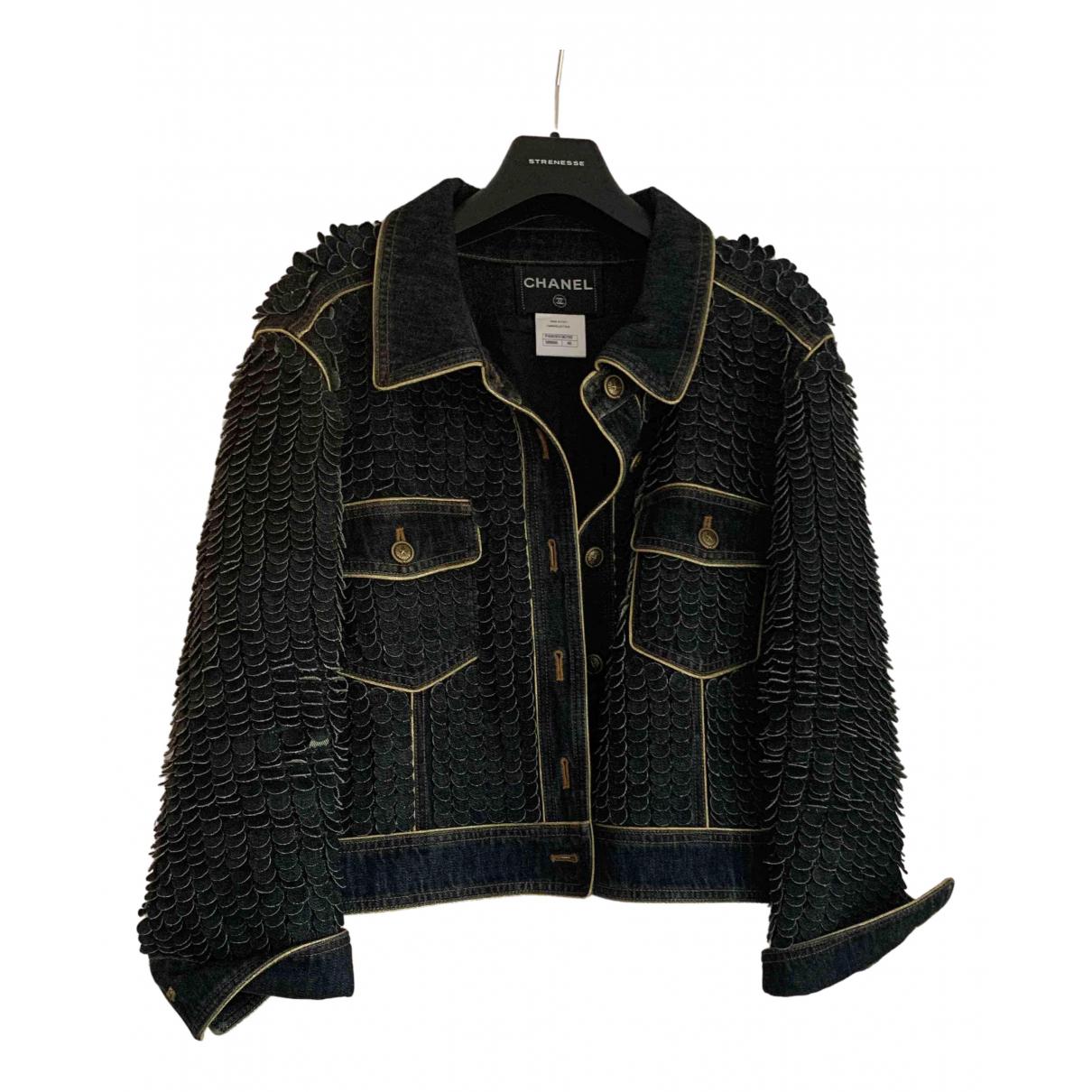 Chanel \N Jacke in  Marine Denim - Jeans