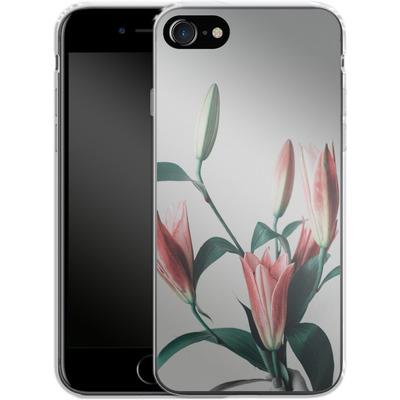 Apple iPhone 8 Silikon Handyhuelle - Blume von SONY