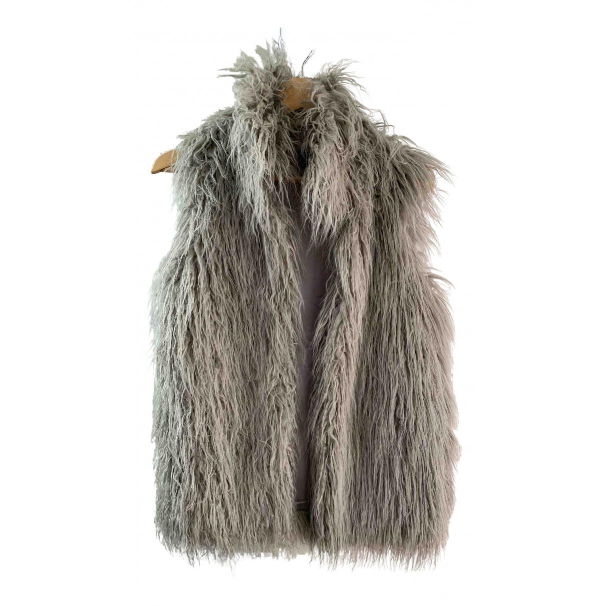 - Veste   pour femme en fourrure synthetique - gris