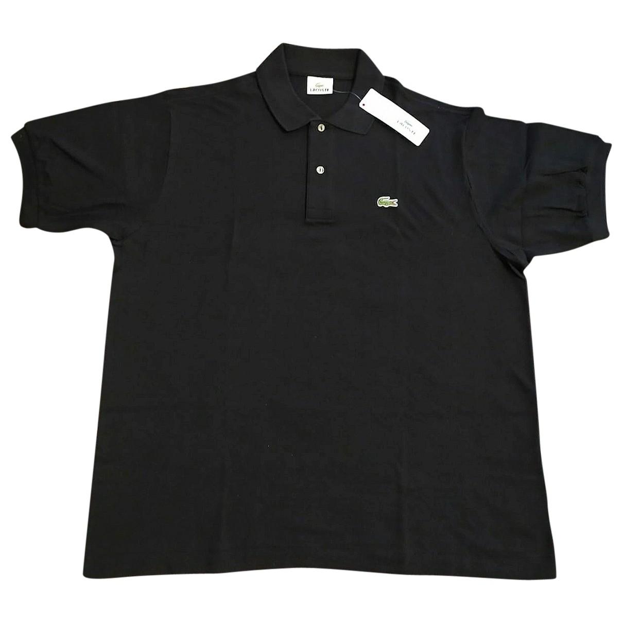 Polo en Algodon Negro Lacoste