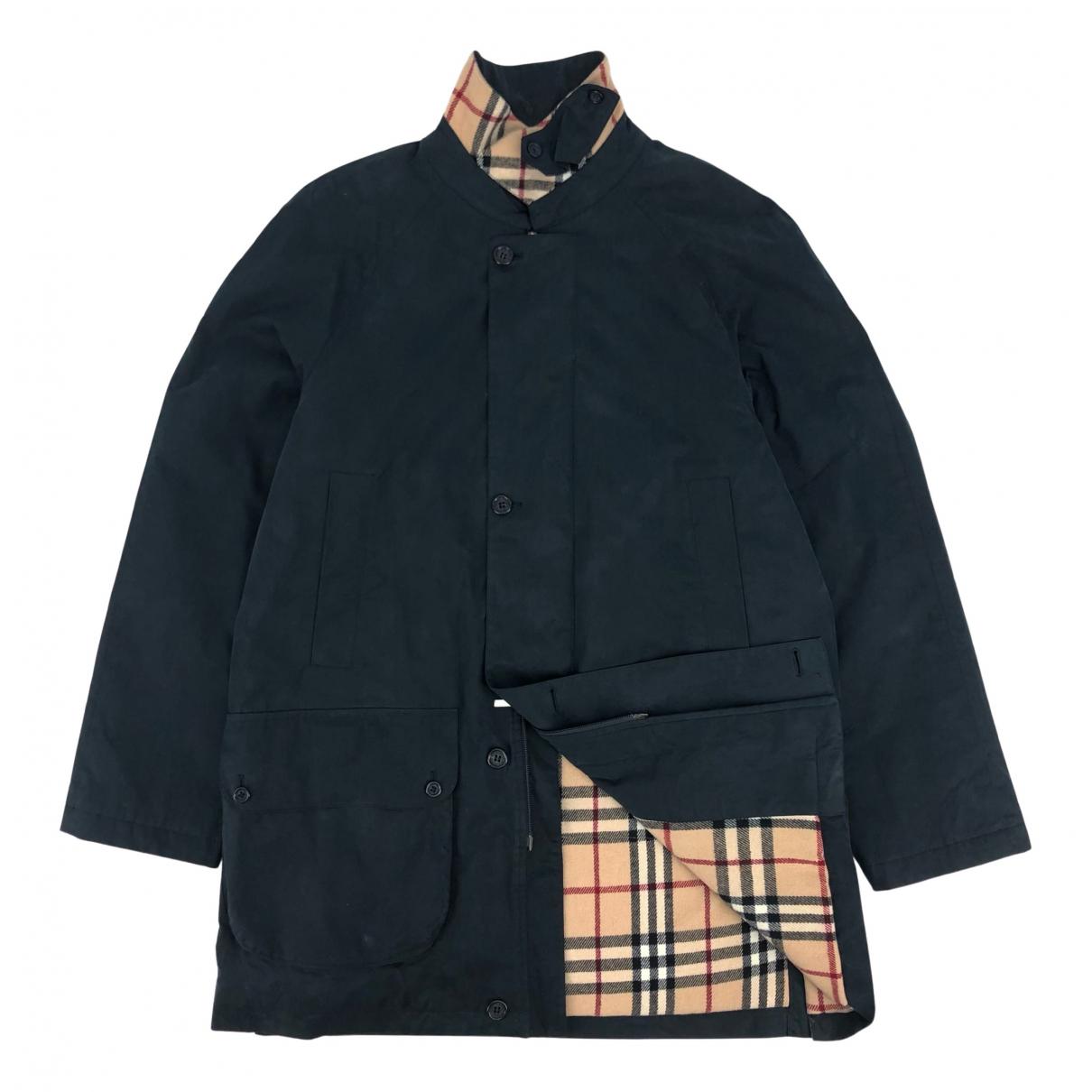 Burberry - Manteau   pour homme en coton - marine
