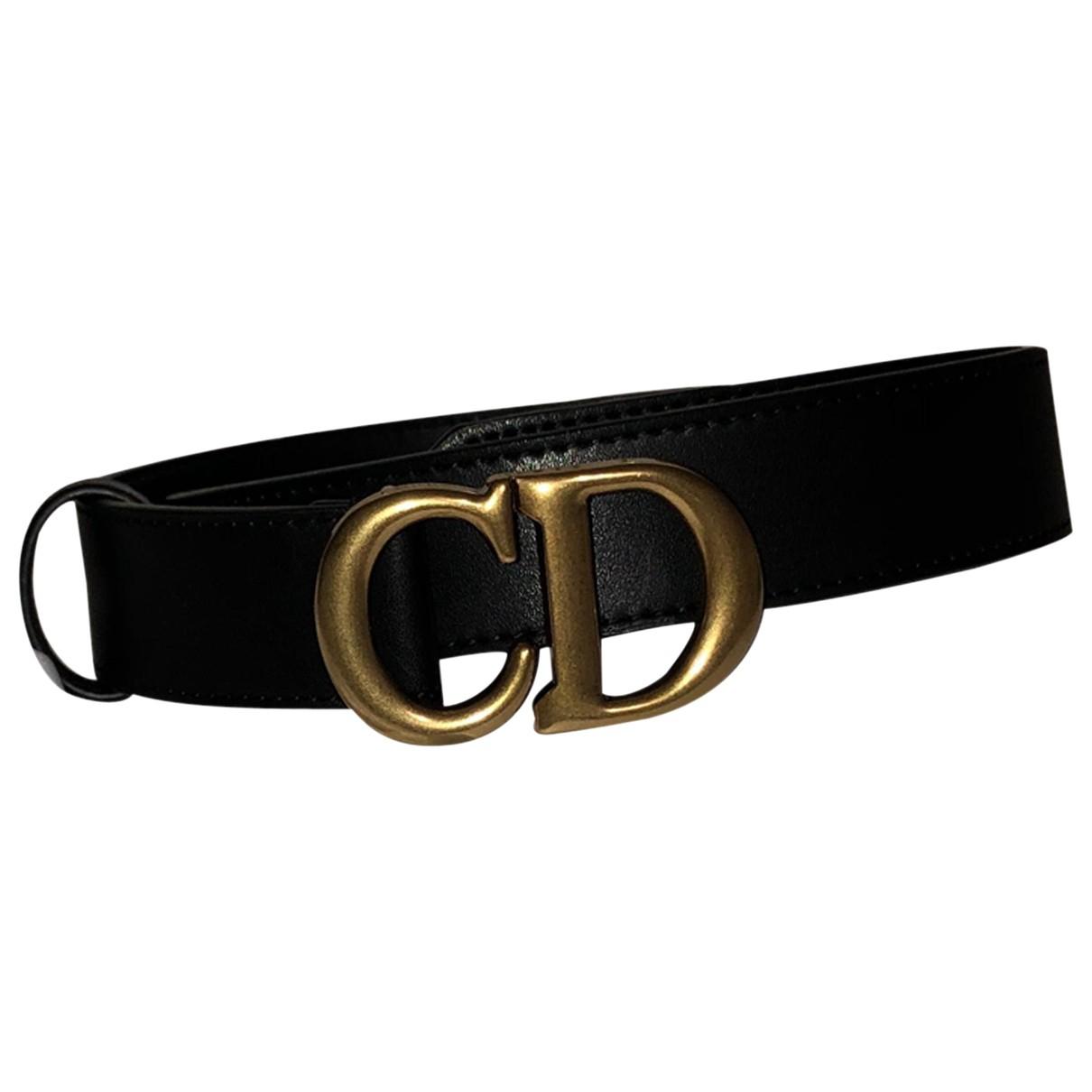 Dior \N Guertel in  Schwarz Leder