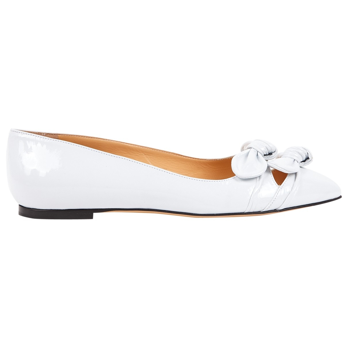 Charlotte Olympia \N White Patent leather Ballet flats for Women 39 EU