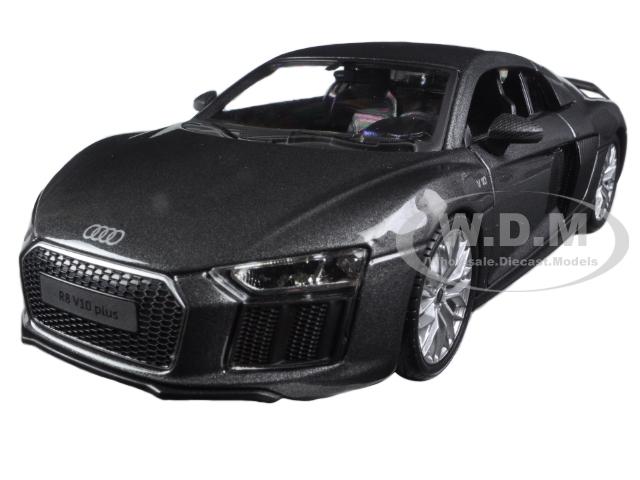 Audi R8 V10 Plus Grey Special Edition 1/24 Diecast Model Car by Maisto
