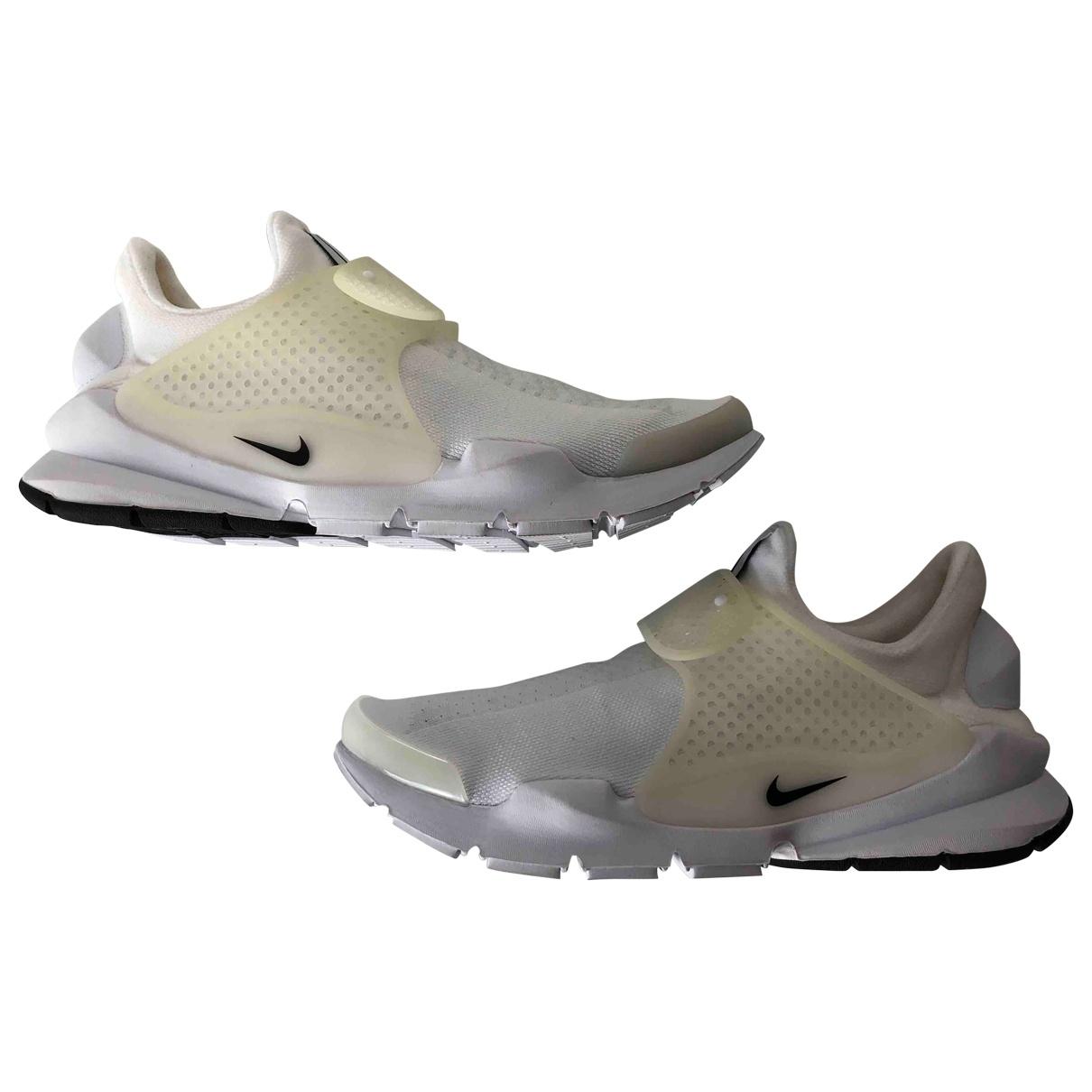 Nike - Baskets Sock Dart pour homme en toile - blanc