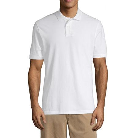 Arizona Short-Sleeve Flex Polo, Medium , White