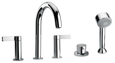 14109-21 Two Lever Handle Roman Tub Faucet and Hand Shower With Classic Spout  Oil Rubbed Bronze