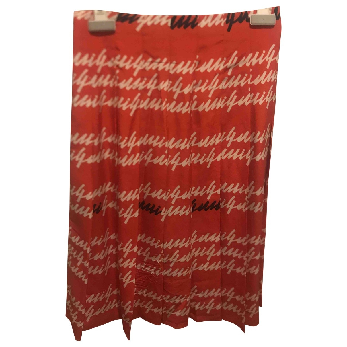 Gucci \N Red Silk skirt for Women 36 IT