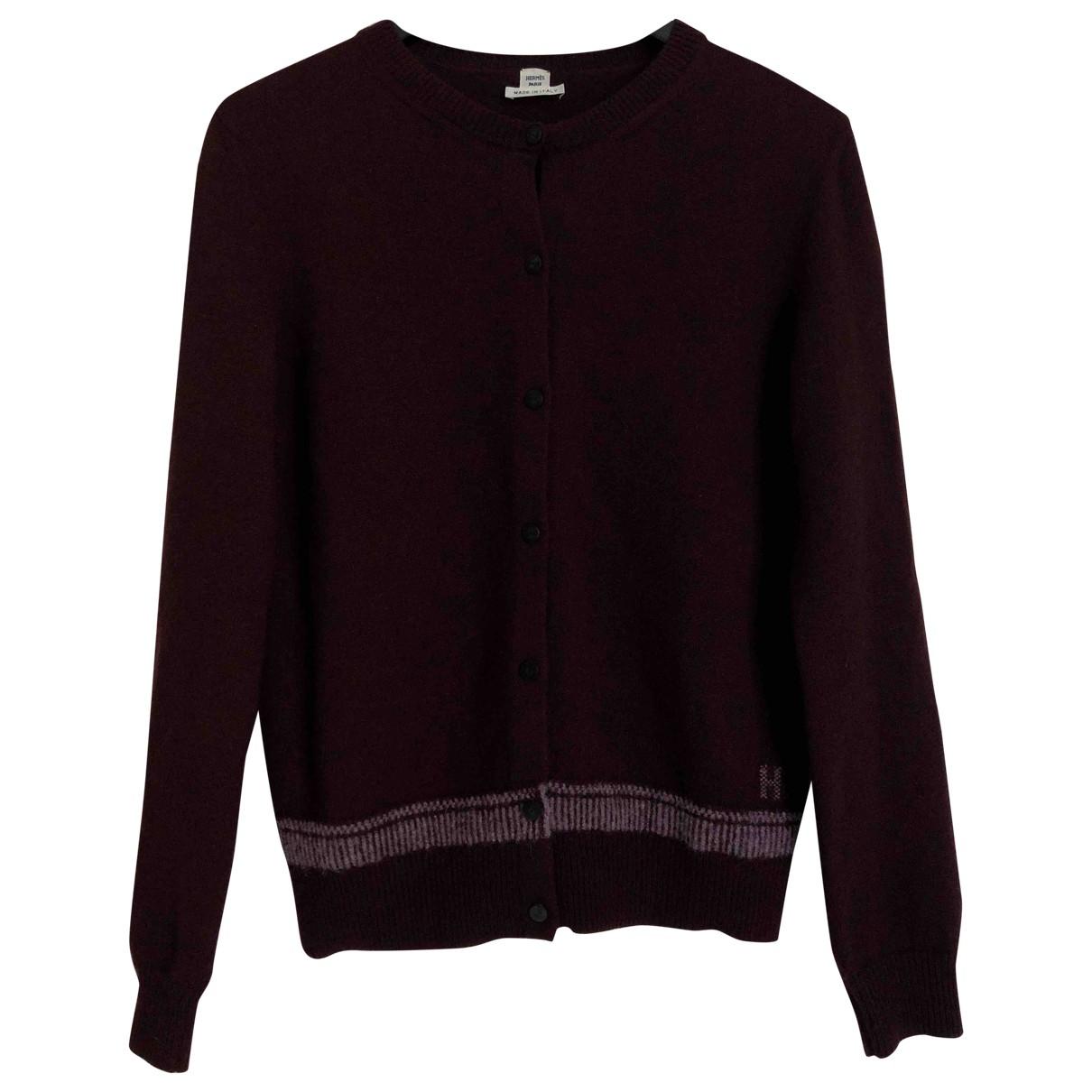 Hermès \N Burgundy Wool Knitwear for Women S International