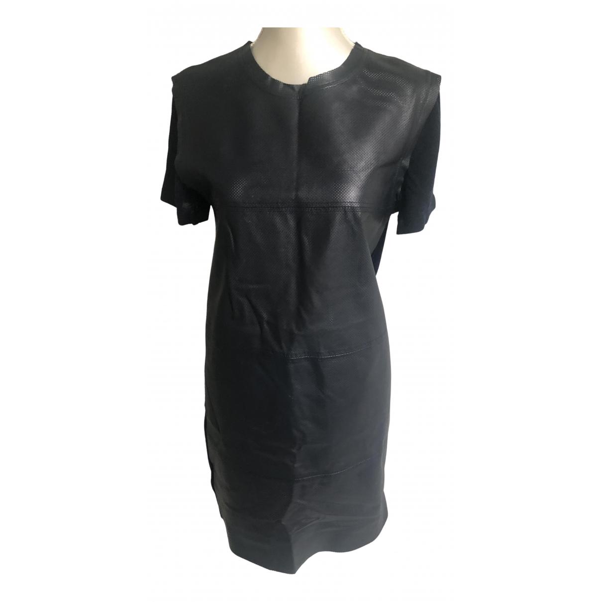 Max Mara \N Kleid in  Blau Leder