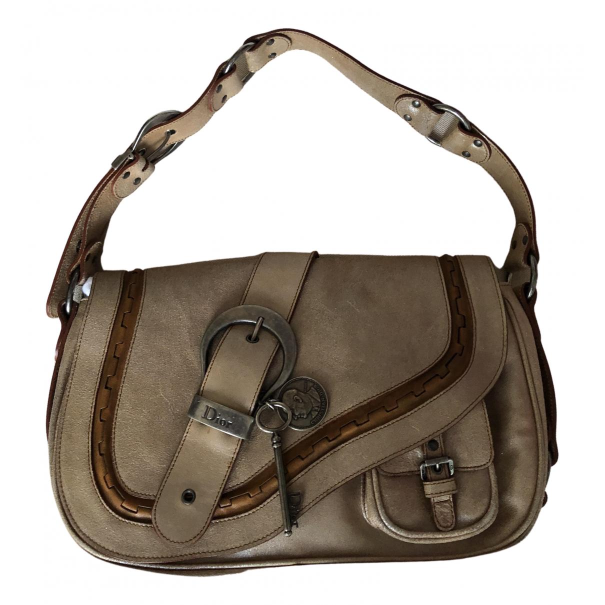 Dior Gaucho Beige Leather handbag for Women \N