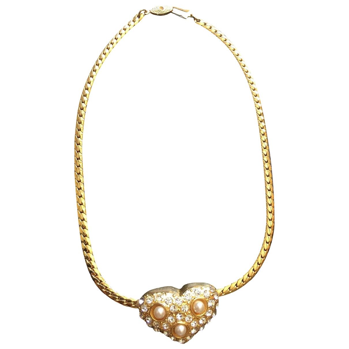 - Collier Motifs Coeurs pour femme en metal - dore