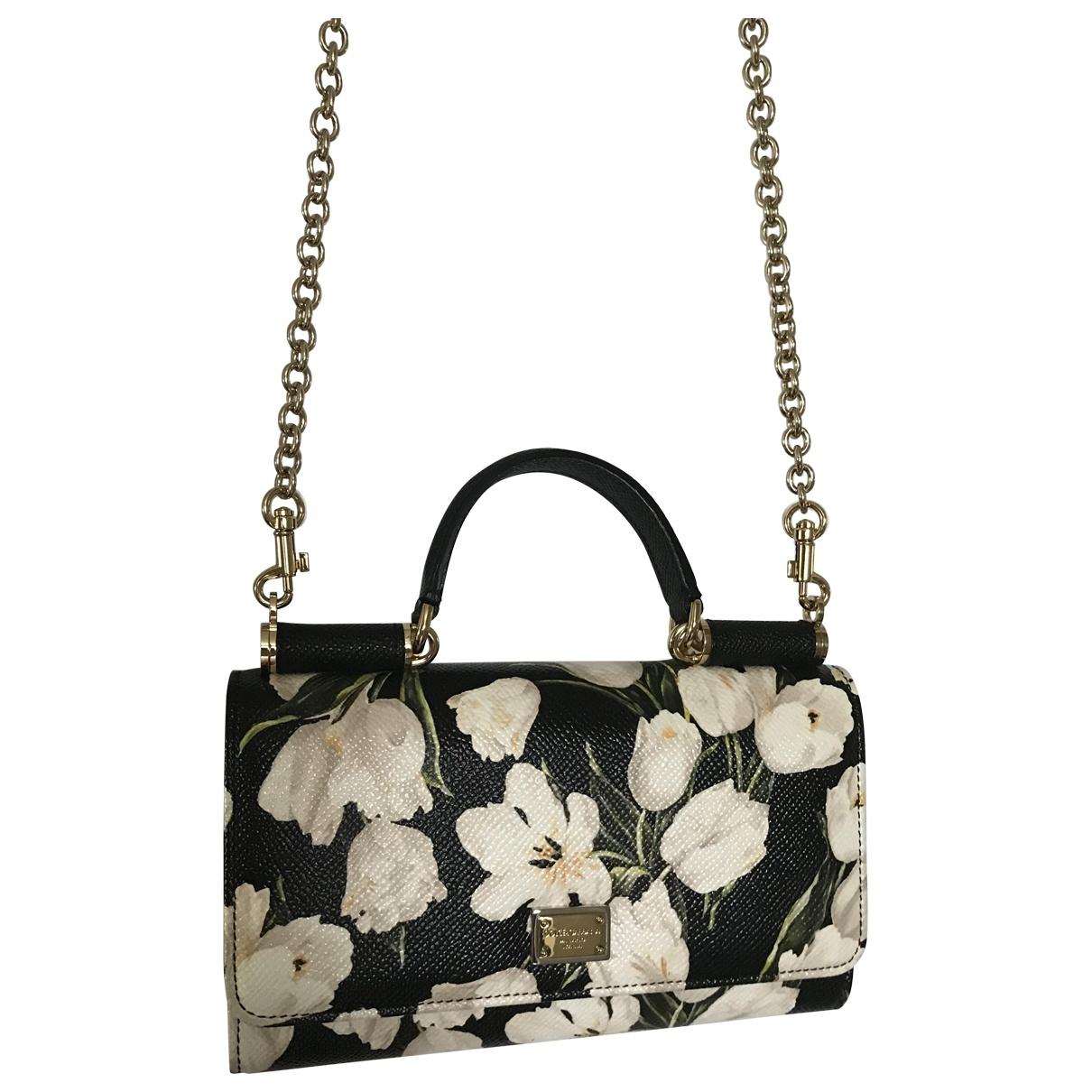 Dolce & Gabbana - Pochette   pour femme en cuir