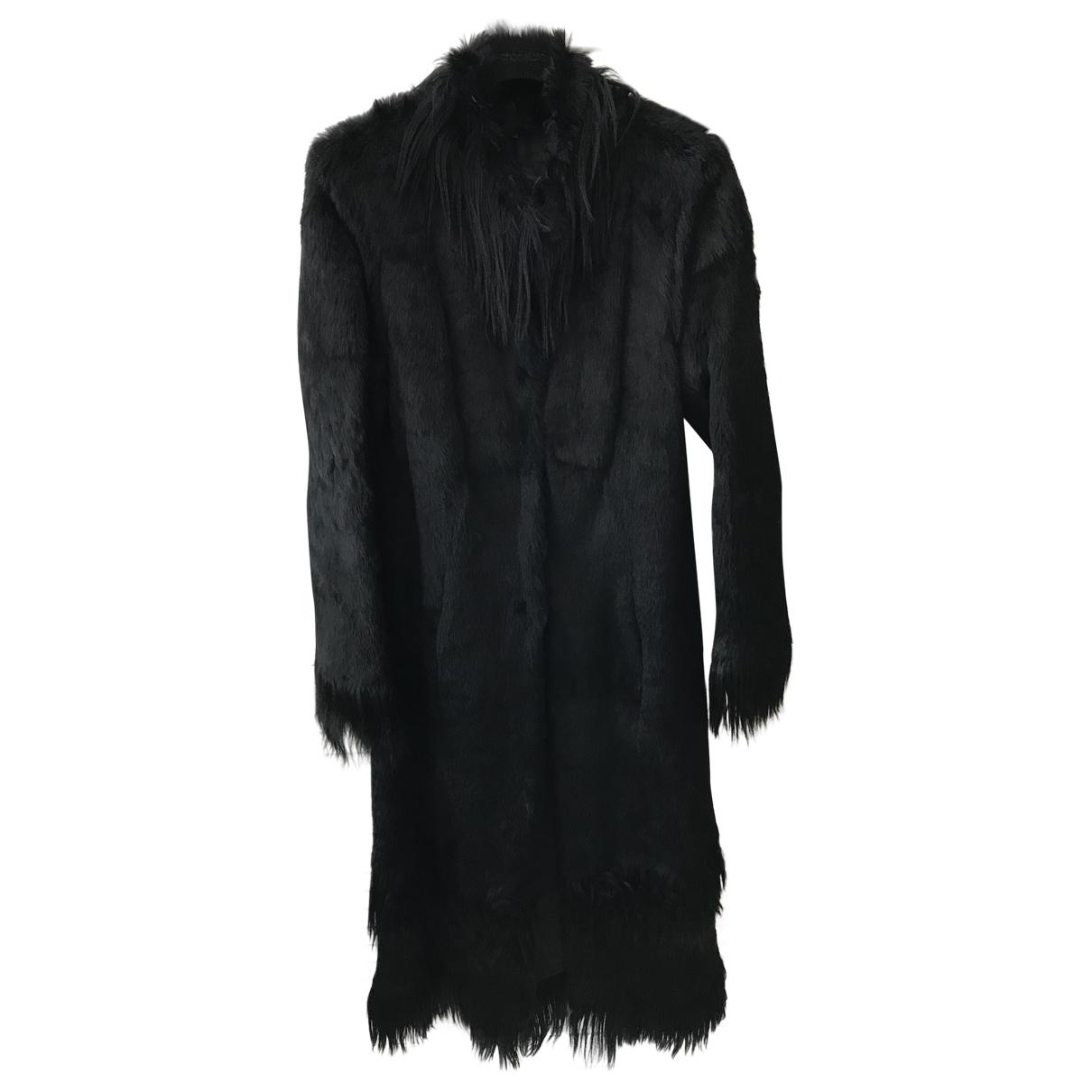 Non Signé / Unsigned \N Black Faux fur coat for Women 42 IT