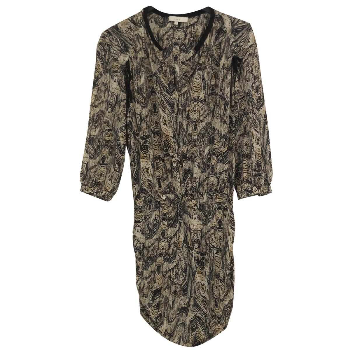 Iro - Robe   pour femme en soie - beige