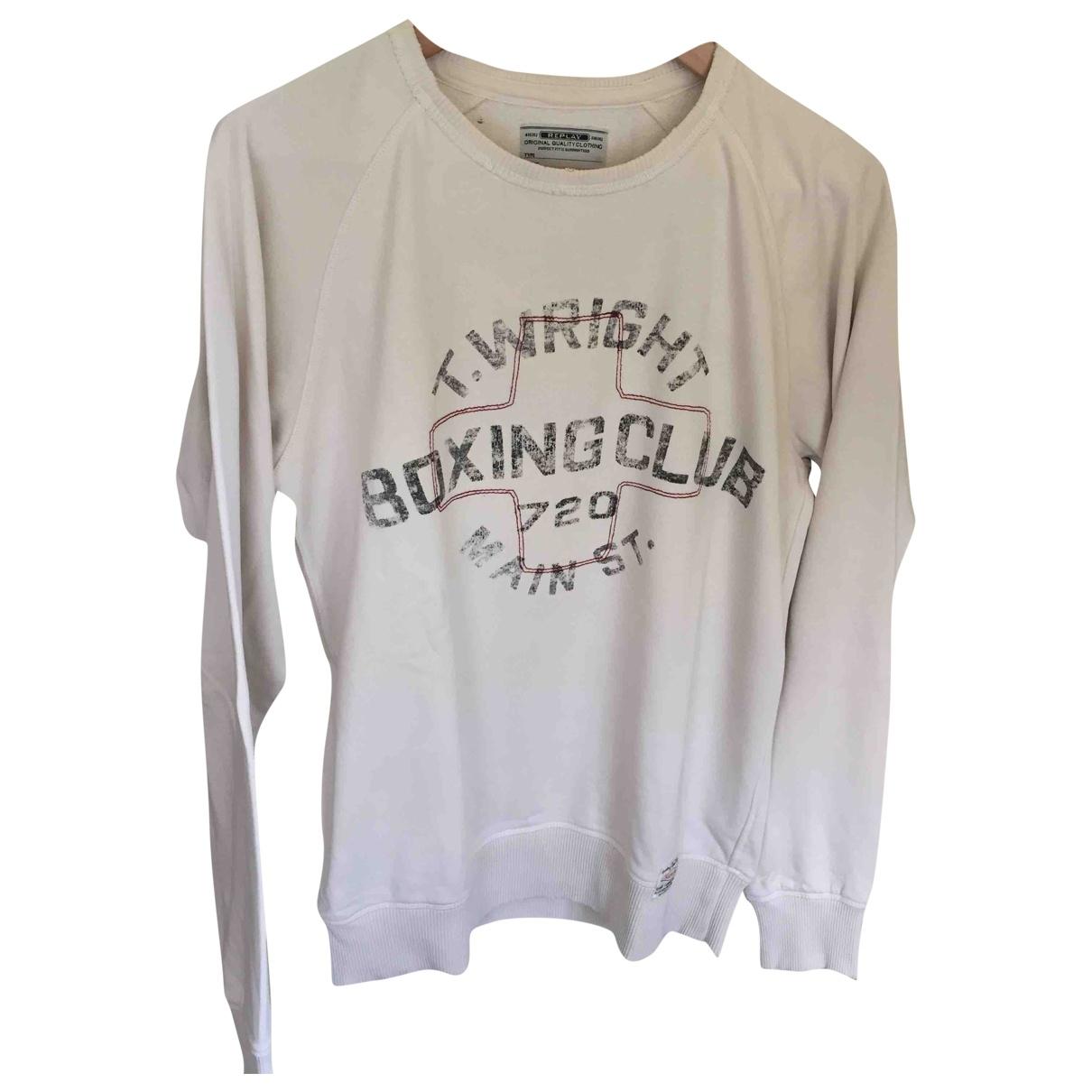 Replay \N Ecru Cotton Knitwear & Sweatshirts for Men S International