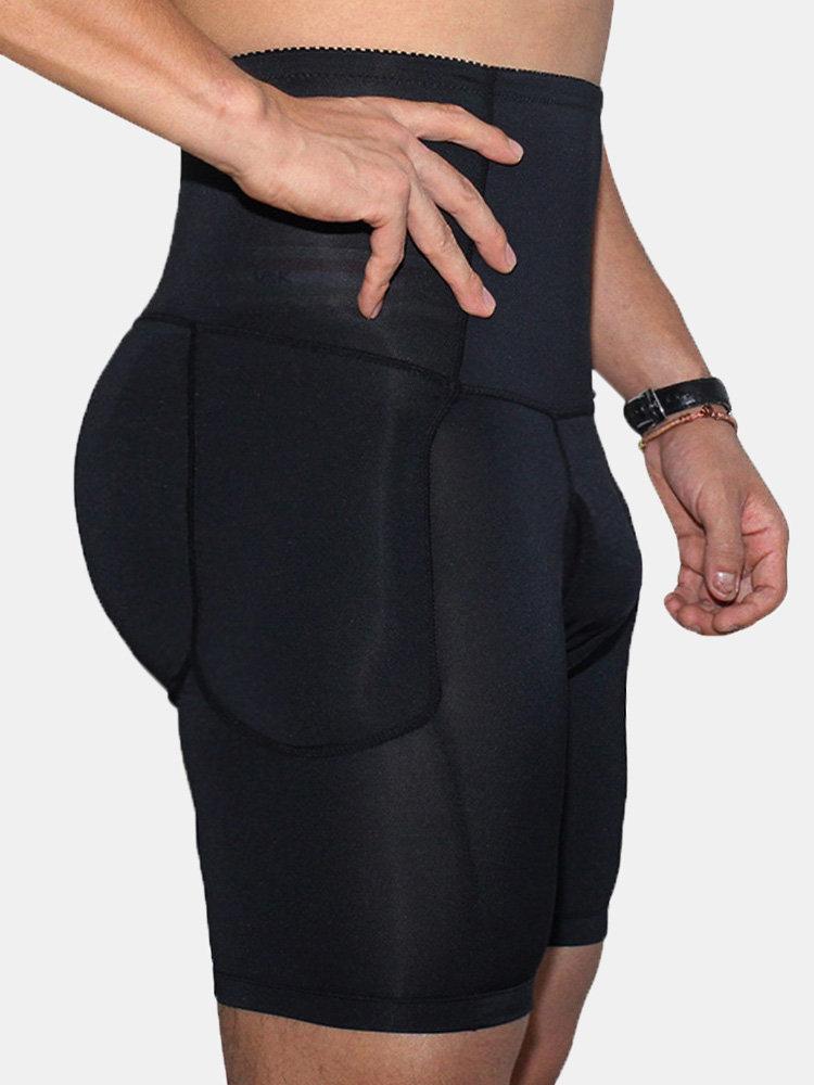 High Waist Slimming Underwear Body Shaper Butt Lifting Compress Legging Shapewear for Men
