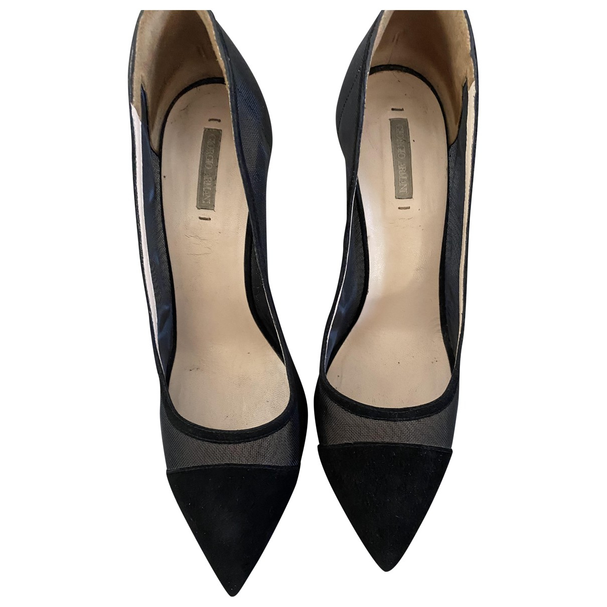 Giorgio Armani \N Black Suede Heels for Women 36.5 EU