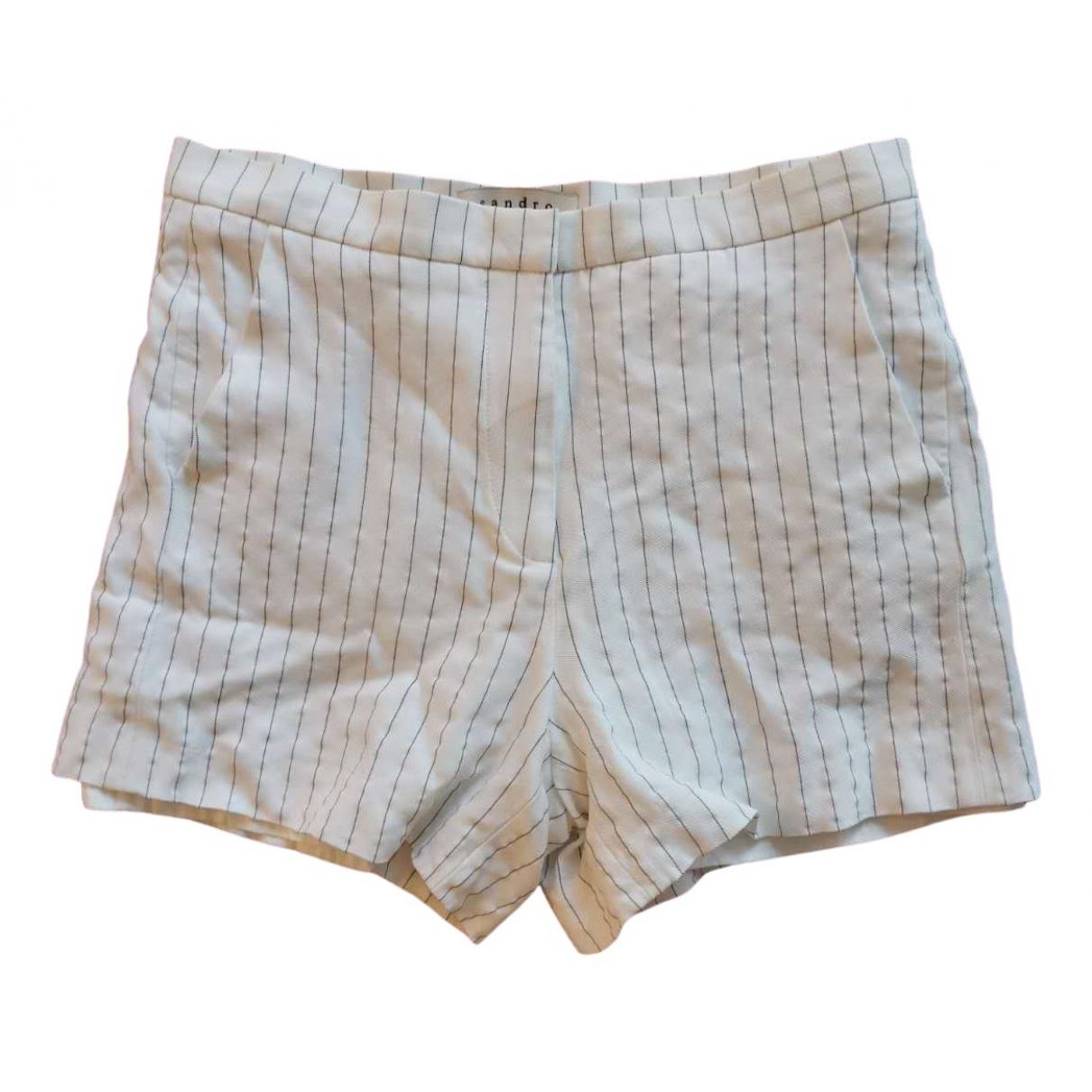 Sandro \N Shorts in  Weiss Viskose