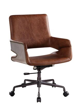 BM204584 Faux Leather Upholstered Wooden Office Chair with Lift Mechanism