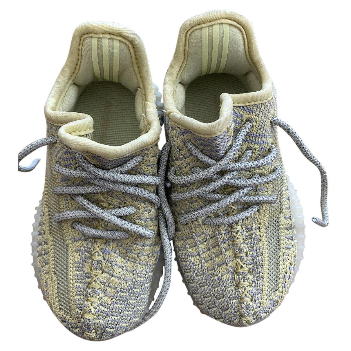 Yeezy X Adidas Boost 350 V2 Yellow Trainers for Kids 23 FR