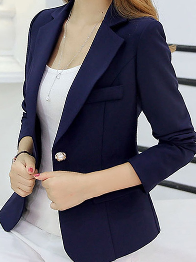 Ericdress Women's Plain Slim Blazer